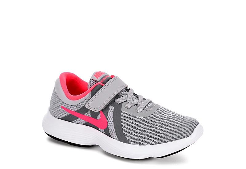 7c9ceb70398f51 Nike Girls Revolution 4 Preschool Sneaker - Grey