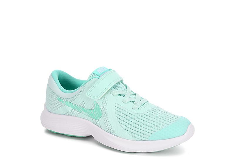 d62124da322c30 Nike Girls Revolution 4 Preschool Running Shoe - Mint