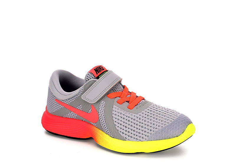 31e55bc492b12 Nike Girls Revolution 4 Preschool Running Shoe - Grey
