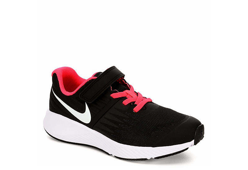 f82a2394fd66 Nike Girls Star Runner Preschool Sneaker - Black