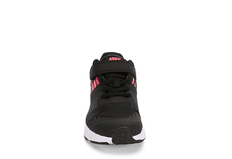 NIKE Girls Preschool Star Runner Sneaker - BLACK