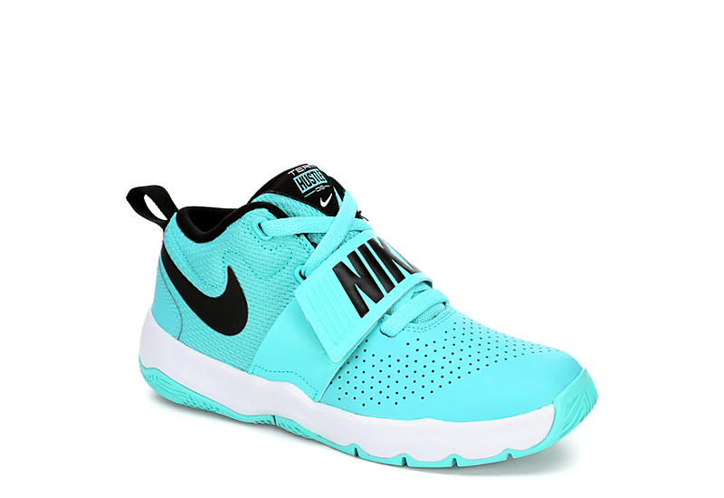 Nike Girls Hustle D8 Preschool Basketball Shoe - Teal cc4dbc4ac