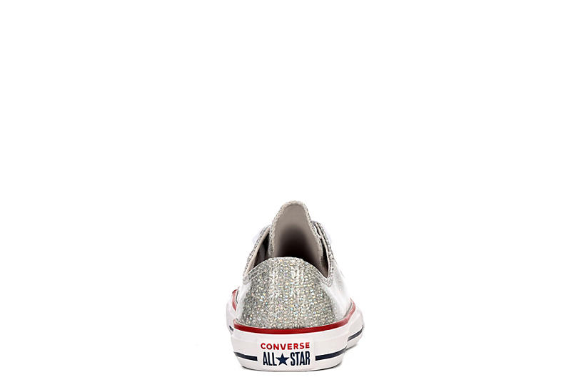 CONVERSE Girls Chuck Taylor All Star Low Sneaker - SILVER