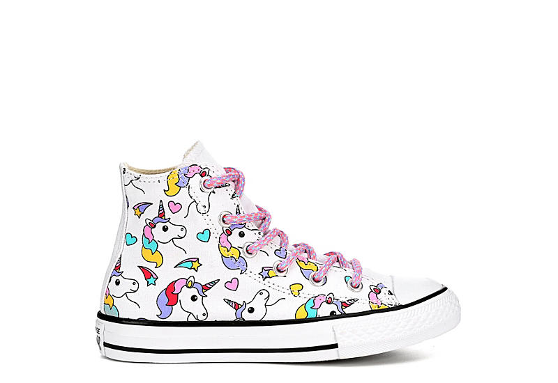 CONVERSE Girls Chuck Taylor All Star High Top Sneaker - WHITE