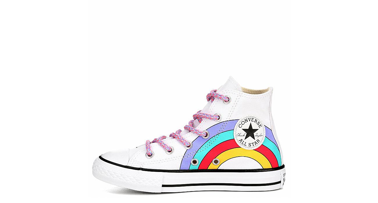 CONVERSE Girls Chuck Taylor All Star High Top Sneaker - WHITE