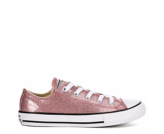 Girls All Star Low Glitter Preschool Sneaker