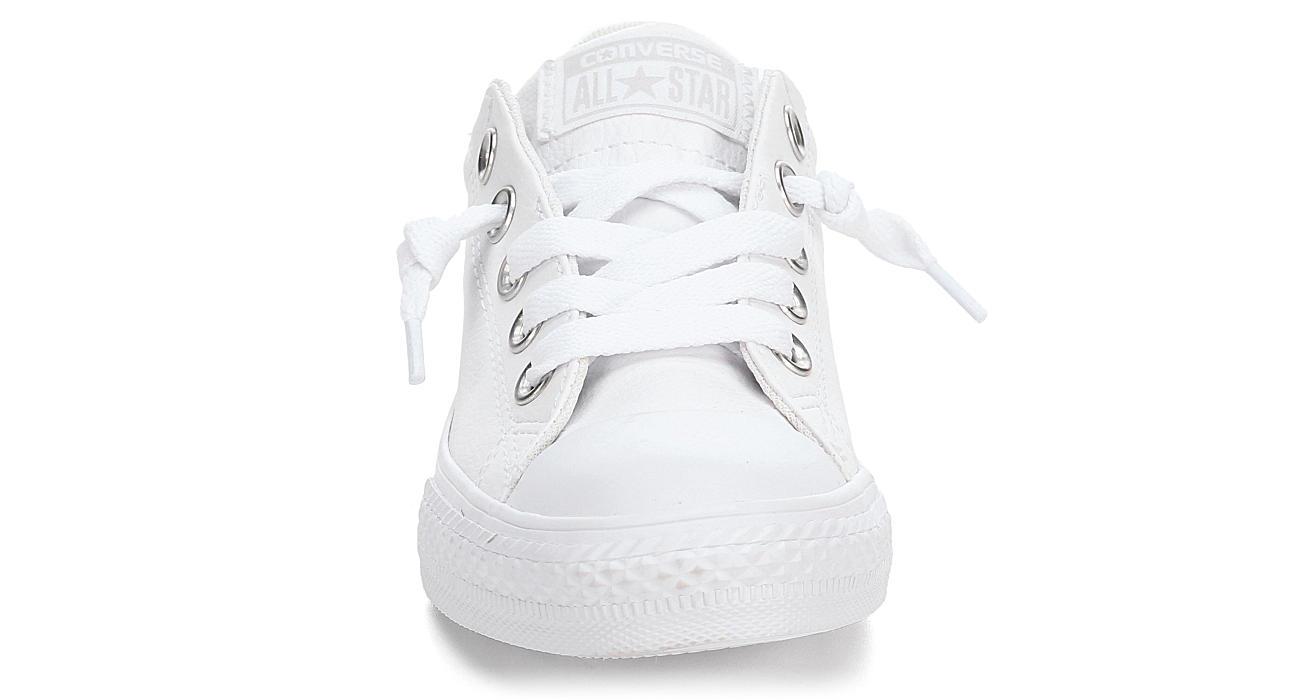 92a19876b07aed Converse Girls Street Slip Leather Preschool Sneaker - White