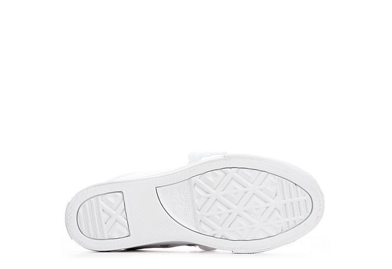 CONVERSE Girls Chuck Taylor All Star Street Slip Leather Sneaker - WHITE