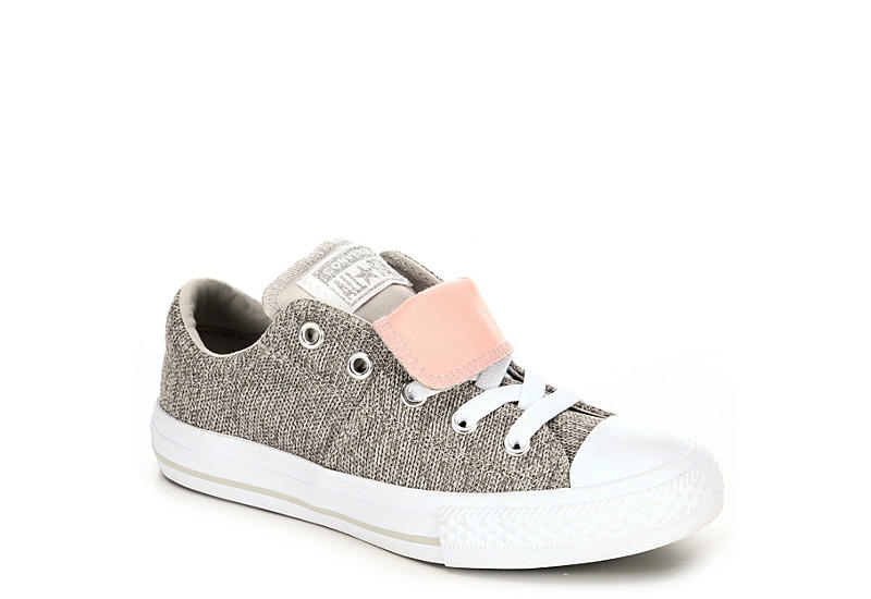 e712ac5e58cb Pale Grey Converse Girls Chuck Taylor All Star Maddie Knit Sneaker ...