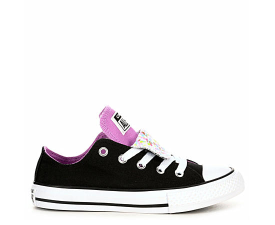 Girls Double Tongue Sneakers
