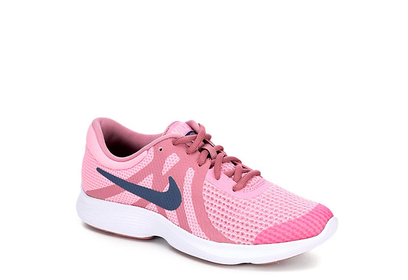 c9c2bcde17df9 PINK NIKE Girls Revolution 4 Grade School Running Shoe