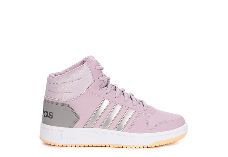 ADIDAS Girls Hoops 2.0 Mid Sneaker - BLUSH