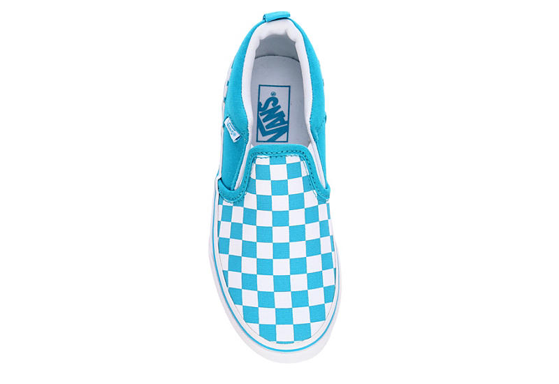 VANS Girls Asher Slip-on Sneaker - AQUA