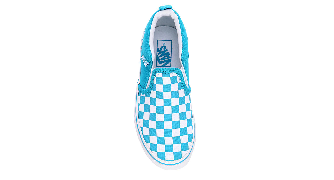 VANS Girls Asher Slip Checkerboard - AQUA