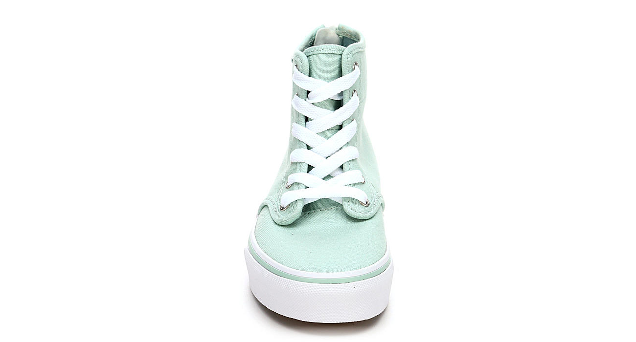 9e40fd045b6e Aqua Vans Girls Camden High Top Zip Grade School Sneaker