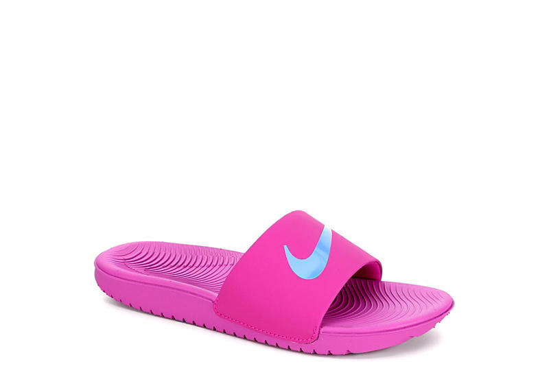 2be5c850bf5 Purple Nike Girls Kawa Slide Sandal