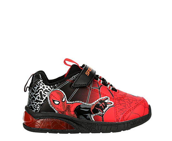 Boys Infant Boys Spiderman Lighted Velcro Sneaker