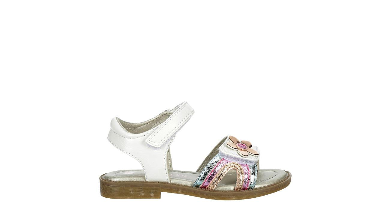 SPROX Girls Infant Petal Flat Sandal - WHITE