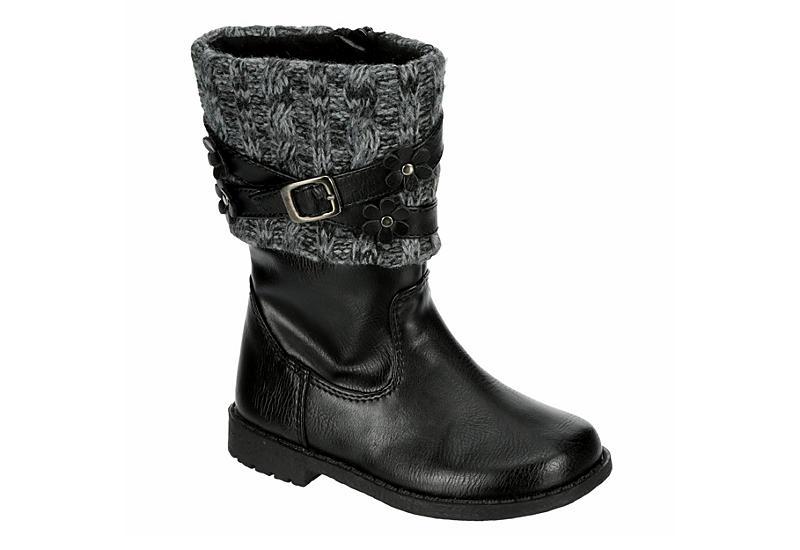 RACHEL SHOES Girls Infant Kimmy Riding Boot - BLACK