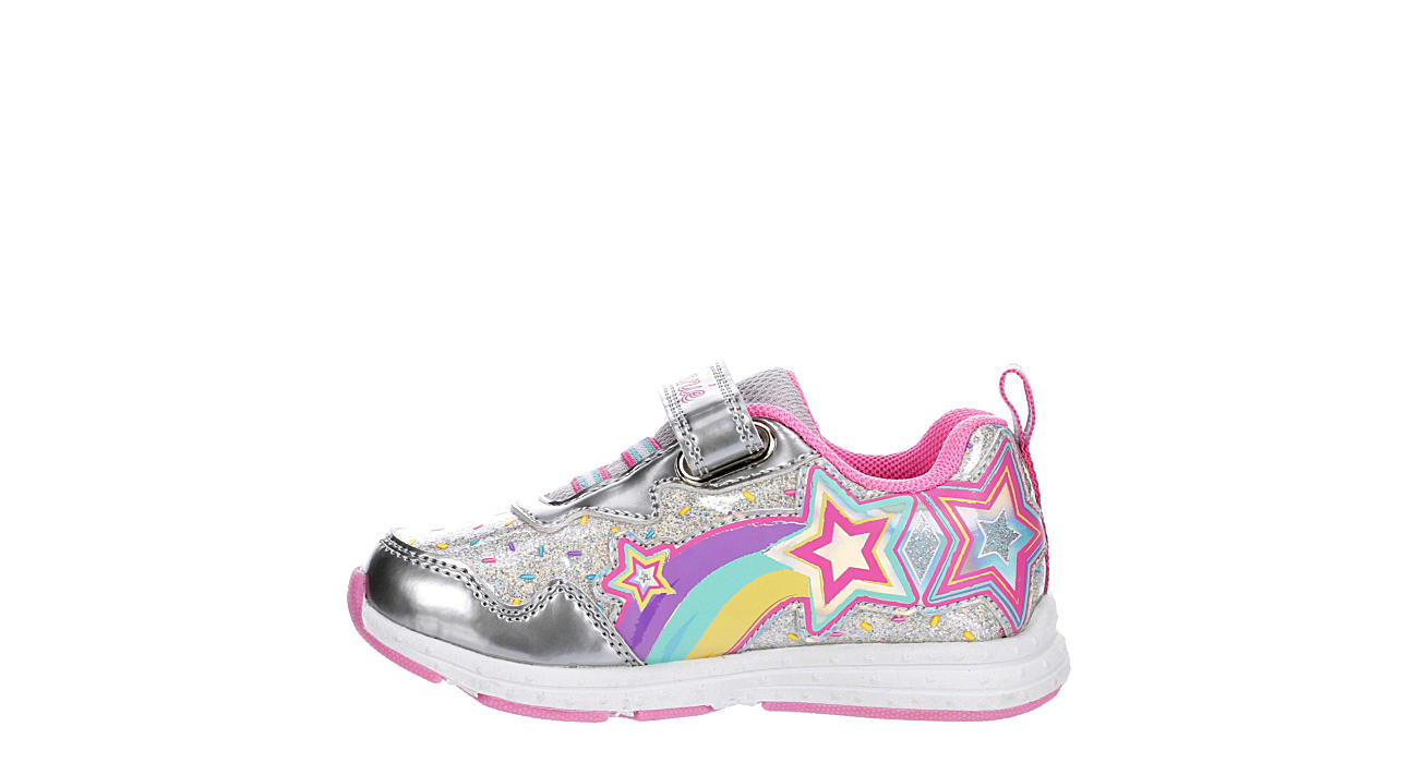 JOSMO Girls Infant Minnie Mouse Velcro Sneaker - SILVER