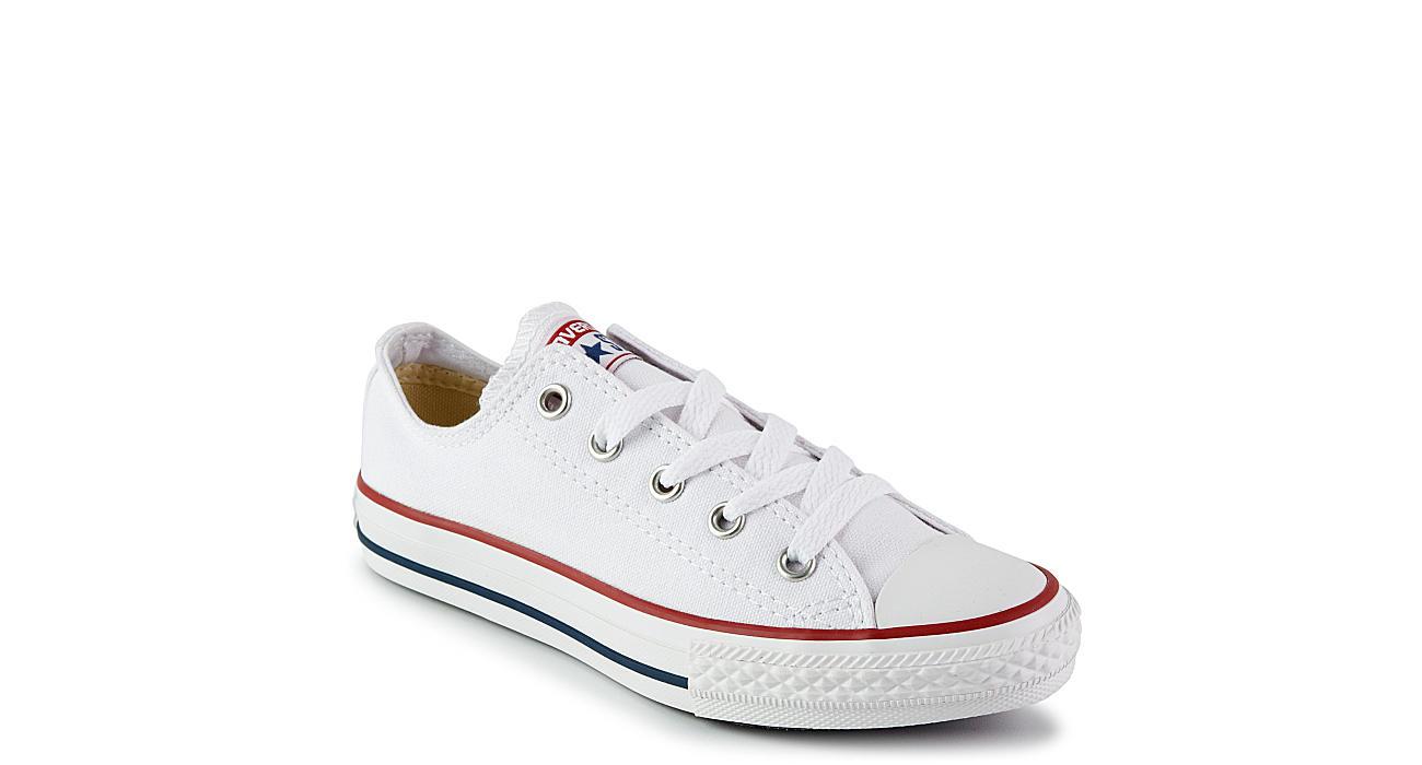 8c513b1f496a White Converse Boys Chuck Taylor All Star Lo Preschool Sneaker ...