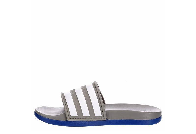 ADIDAS Boys Adilette Comfort Slide Sandal - GREY