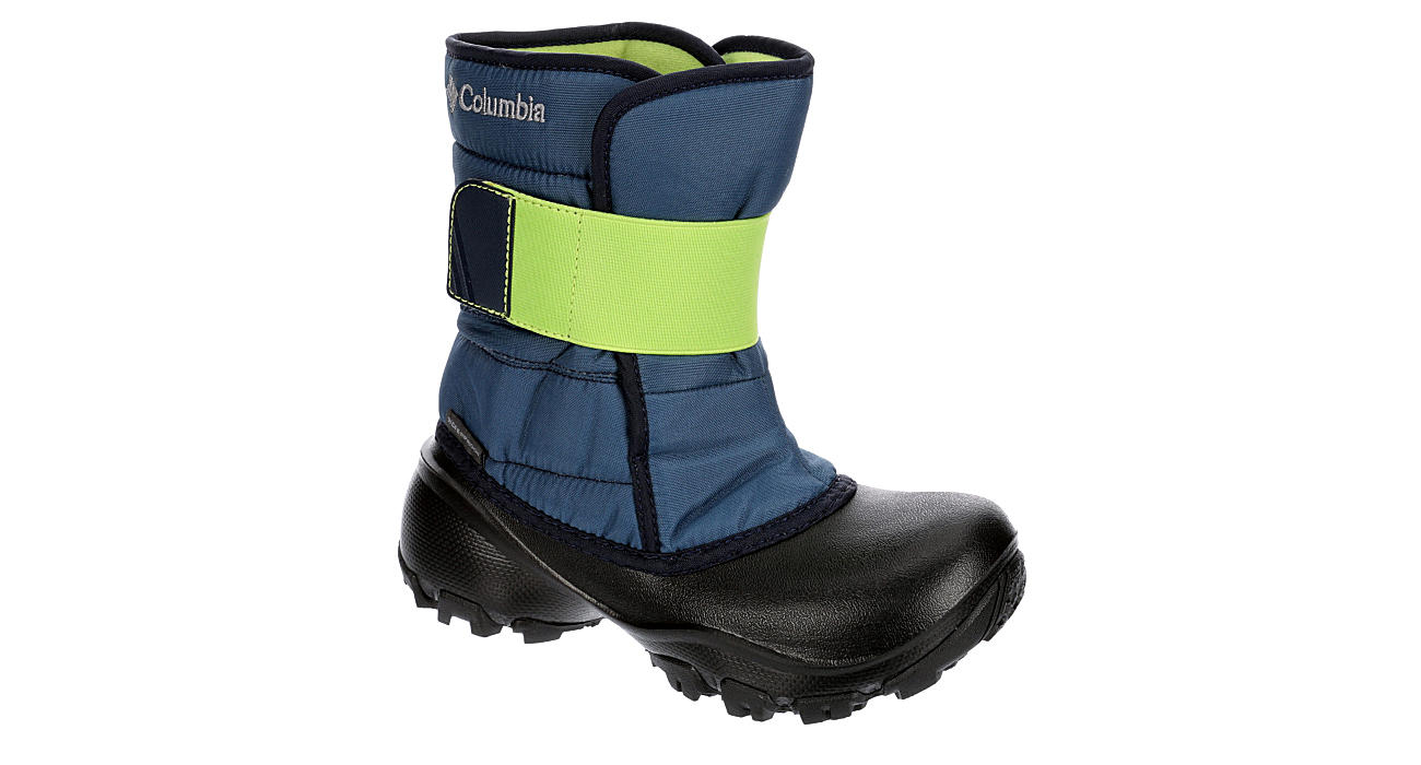 COLUMBIA Boys Rope Tow Kruise Snow Boot - BLACK