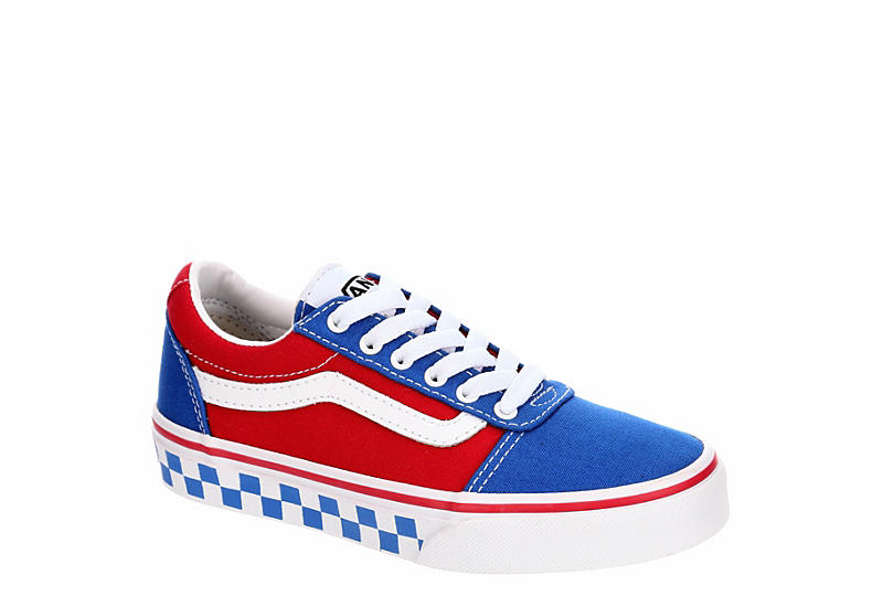 ebe1547c42 BLUE VANS Boys Ward Checkerboard