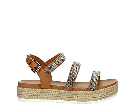 Girls Zirconia Platform Sandal