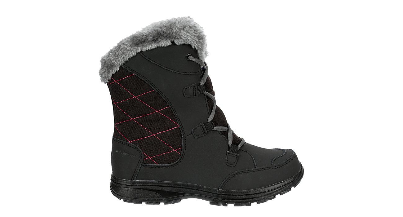 COLUMBIA Girls Ice Maiden Snow Boot - BLACK