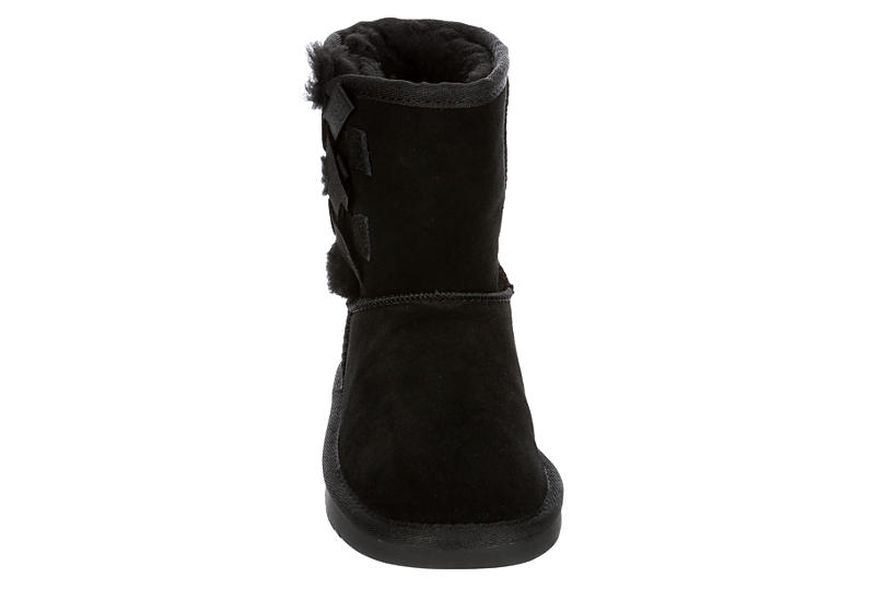 KOOLABURRA by UGG Girls Victoria Short Cozy Boot - BLACK