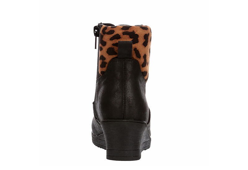 REPORT Girls Wrill Wedge Bootie - BLACK