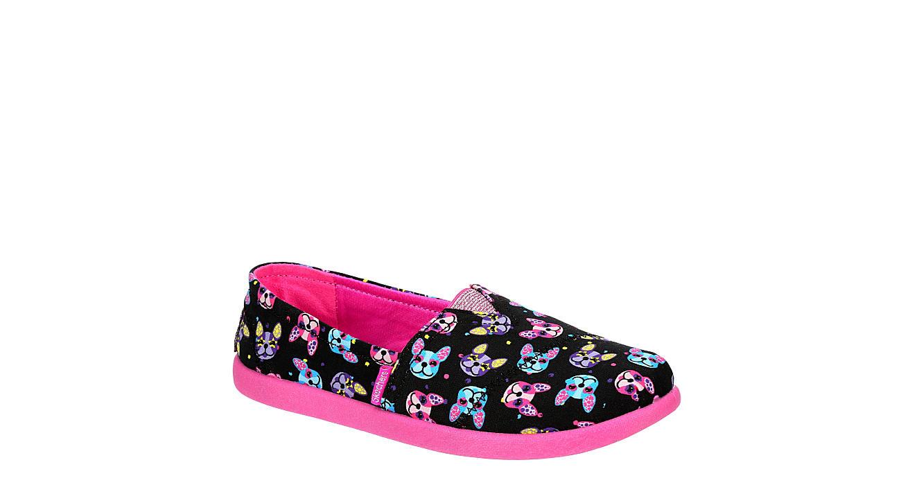 SKECHERS KIDS Girls Solestice 2.0 Slip On Sneaker - BLACK