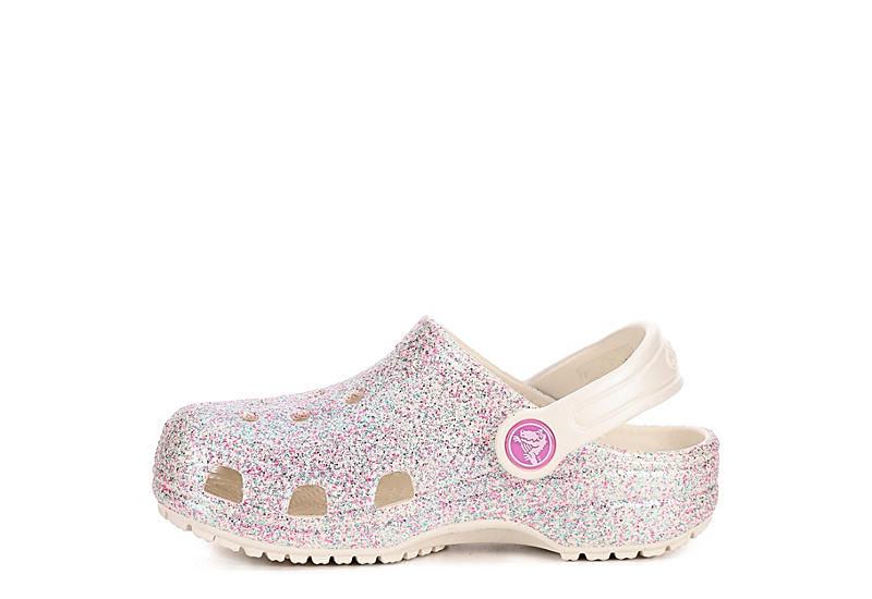 CROCS Girls Glitter Clog K - WHITE