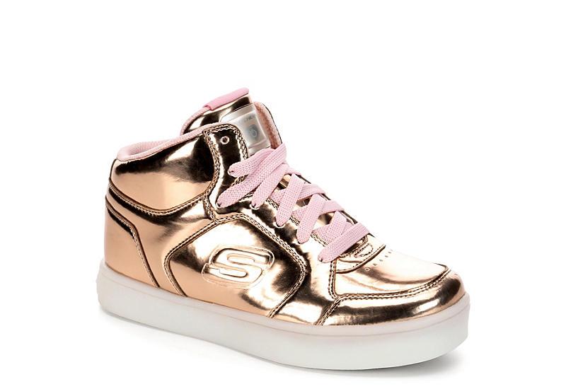 e46c3a6a3e01 Skechers Girls Energy Lights - Rose Gold