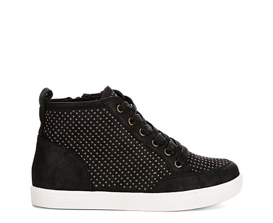 Girls Casual Lace Up High Top