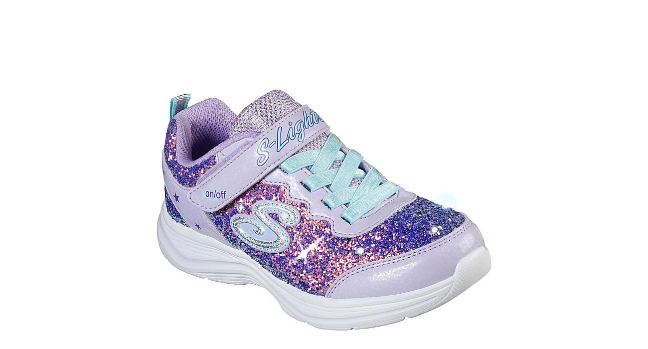 SKECHERS KIDS Girls S Lightsglimmer Kicks-glitter N Glow 20267l-lvaq - PURPLE