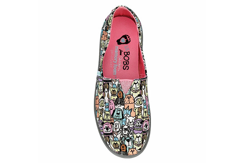 Skechers Kids Girls Lil Bobs Solestice 2.0 Dogs On Parade 300003l Grey