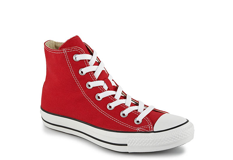 Nationell dis Orsak  Red Converse Womens Chuck Taylor All Star High Top Sneaker ...