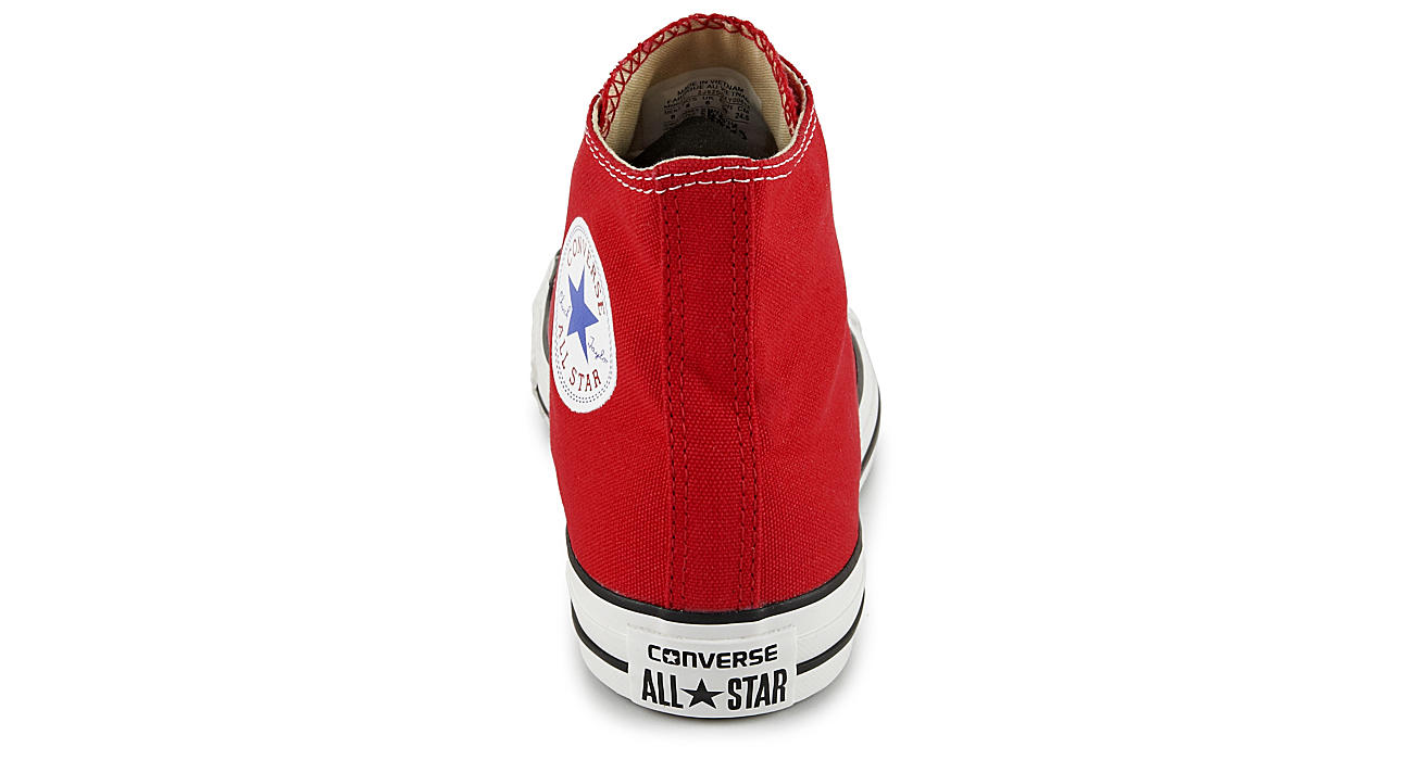 CONVERSE Womens Chuck Taylor All Star High Top Sneaker - RED