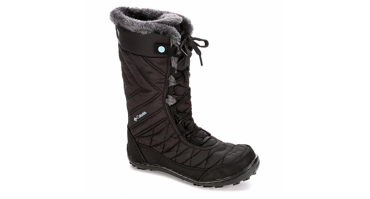 COLUMBIA Girls Minx Mid Waterproof Snow Boot - BLACK
