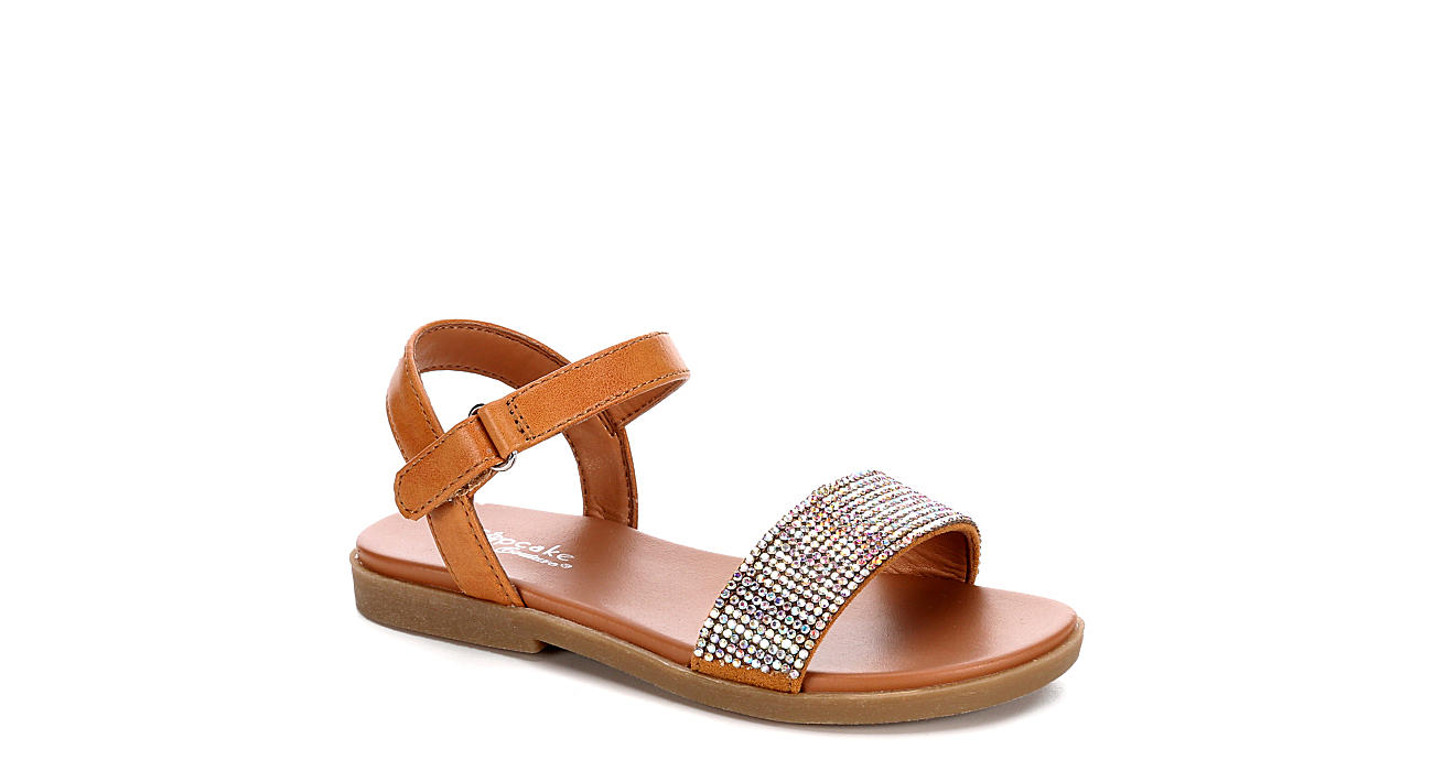 CUPCAKE COUTURE Girls Infant Lil Corina Rhinestone Flat Sandal - TAN