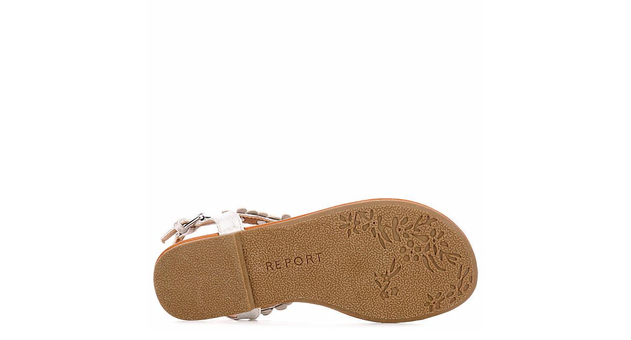 REPORT Girls Cora Flat Sandal - SILVER