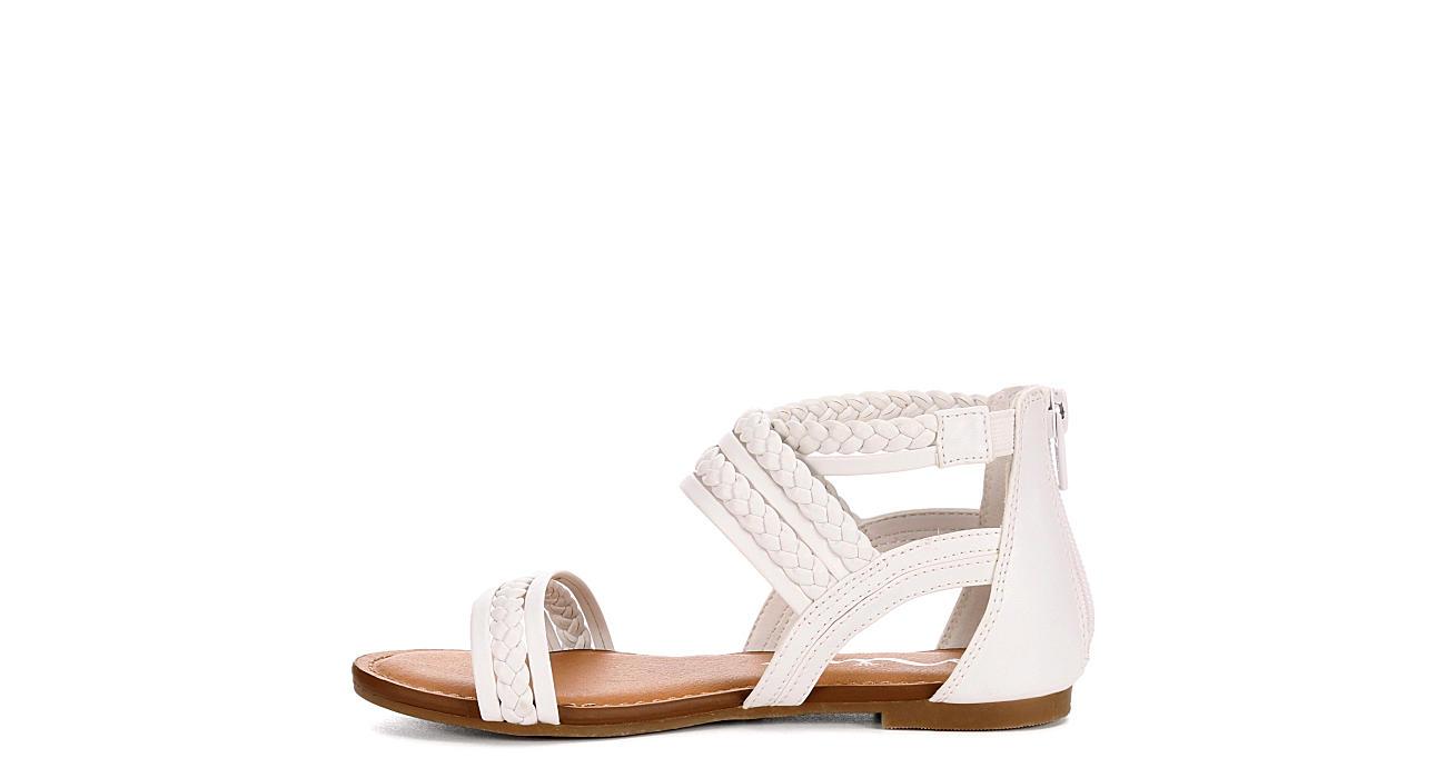 NINA KIDS Girls Girls P-bell Sandals - WHITE