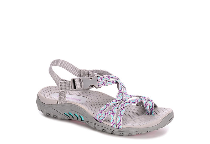 SKECHERS KIDS Girls Reggae Miss Adventure Girls Sandal - GREY
