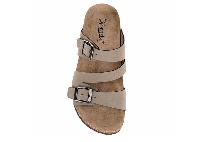 BJORNDAL Girls Willow Footbed Sandal - TAUPE