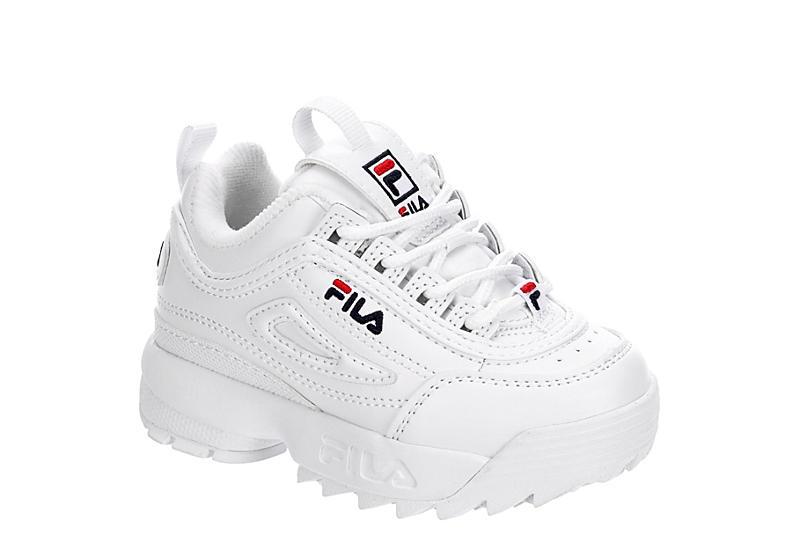 WHITE FILA Boys Infant Disruptor Ii Premium Sneaker