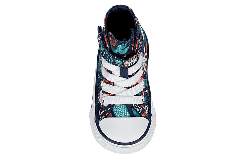 CONVERSE Girls Infant Chuck Taylor All Star High Top Sneaker - NAVY