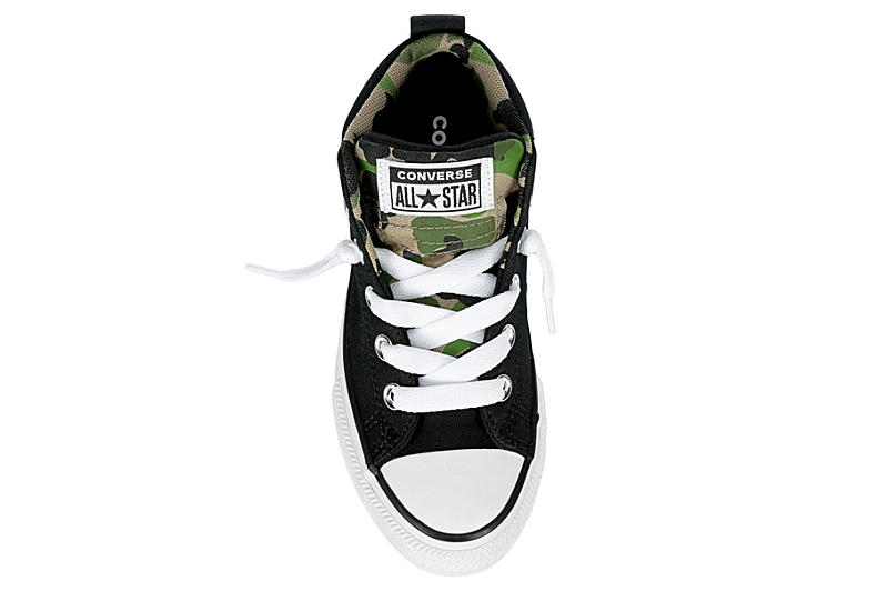 CONVERSE Boys Chuck Taylor All Star Street High Top Sneaker - BLACK