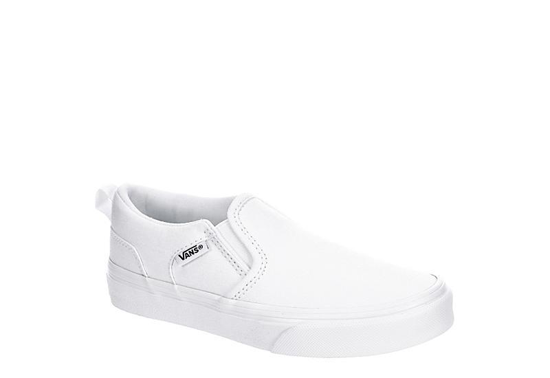 VANS Boys Asher Slip-on Sneaker - WHITE